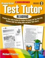 standardized test tutor reading grade 3