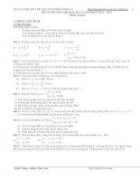 đề cương ôn tập học kì 2 toán 11