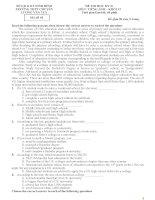 Tổng hợp đề thi HKII tiếng anh lớp 12 (2014, with key)