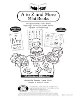 a to z and more mini books