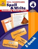 skill sharpeners spell and write grade 4