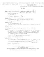tài liệu ôn thi hsg toán 9 đề thi và đáp án thi cấp huyện tham khảo