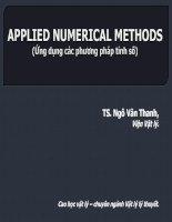 ứng dụng các phương pháp tính số