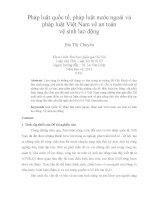 pháp luật quốc tế, pháp luật nước ngoài và pháp luật việt nam về an toàn vệ sinh lao động