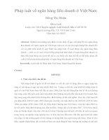 pháp luật về ngân hàng liên doanh ở việt nam