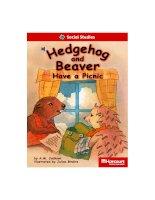 hedgehog and beaver have a picnic