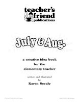 scholastic skills july and august month