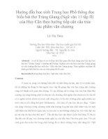 hướng dẫn học sinh trung học phổ thông đọc hiểu bài thơ tràng giang (ngữ văn 11 tập ii) của huy cận theo hướng tiếp cận cấu trúc tác phẩm văn chương