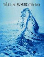 Bài giảng tích hợp liên môn Hóa 8 Tiết 54 Bài Nước