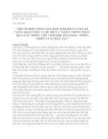 """CHUYÊN ĐỀ: MỘT SỐ BIỆN PHÁP GIÚP HỌC SINH RÈN LUYỆN KĨ NĂNG KHAI THÁC LƯỢC ĐỒ TỰ NHIÊN TRONG PHẦN ĐỊA LÍ TỰ NHIÊN  LỚP 7 KHI HỌC BÀI DẠNG """"THIÊN NHIÊN CỦA CHÂU LỤC"""""""