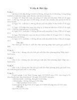 bài tập kế toán vật liệu công cụ và dụng cụ