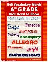vocabulary words kids need to know