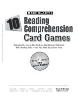 reading comprehension card games