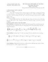 Tài liệu Đề thi, đáp án Thi giáo viên giỏi cấp trường năm học 2014 2015 bộ môn  Âm nhạc
