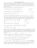 Bài tập về mạch dao động vật lý lớp 12 có giải