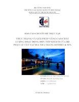 thực trạng hoạt động đón tiếp và giải pháp nâng cao chất lượng dịch vụ tại bộ phẫn lễ tân mia resort & spa