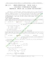 phân tích và hướng dẫn giải các bài tập hóa học hay và khó trong các đề thi đại học năm 2013