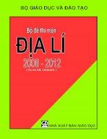 bộ đề thi môn địa từ năm 2008 đến 2012