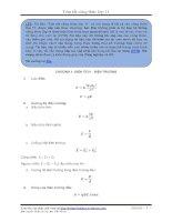 tóm tắt công thức vật lý 11