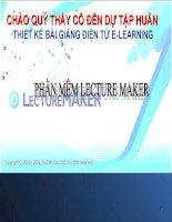 hướng dẫn sử dụng phần mềm lecture maker
