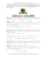 Bài tập sóng và giao thoa sóng có đáp án