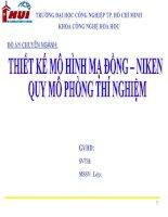 báo cáo đồ án thiết kế mô hình mạ đồng niken