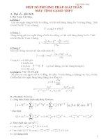 Một số phương pháp giải toán trên máy tính casio THPT