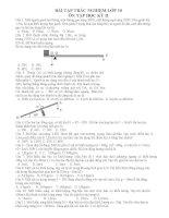 BÀI tập TRẮC NGHIỆM lý lớp 10