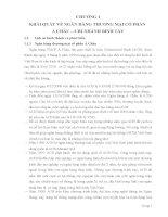 PHÂN TÍCH HIỆU QUẢ HOẠT ĐỘNG CHO VAY  TIÊU DÙNG TẠI NGÂN HÀNG THƯƠNG MẠI  CỔ PHẦN Á CHÂU – CHI NHÁNH BÌNH TÂY