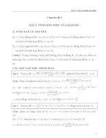 tính đơn điệu hàm số và cực trị của hàm số