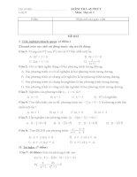 KIỂM TRA 1 TIẾT ĐẠI SỐ 8 HỌC KỲ II (12-13)