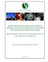 hướng dẫn công tác quan trắc kiểm kê và giám sát các chất ô nhiễm hữu cơ khó phân hủy (pop) cho các nghành địa phươngn trac full