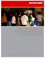 """báo cáo nghiên cứu """"tiếp cận của người nghèo đến dịch vụ y tế và giáo dục trong bối cảnh xã hội hóa hoạt động y tế và giáo dục tại việt nam"""