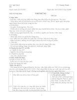 Giáo án ngữ văn 8 (học kỳ 2)
