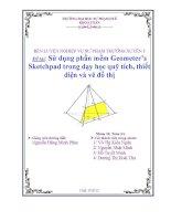 sử dụng phần mềm geometer's sketchpad trong dạy học quỹ tích, thiết diện và vẽ đồ thị