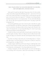 THỰC TRẠNG CÔNG TÁC XÂY DỰNG ĐỘI NGŨ CỦA TRƯỜNG THPT SƠN ĐỘNG SỐ 1, TỈNH BẮC GIANG