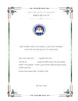 Đề cương khóa luận tốt nghiệp  Quản lý thiết bị dạy học tại trường THPT Tràng Định  Tỉnh Lạng Sơn theo định hướng trường chuẩn quốc gia