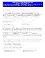 ĐỀ THI THỬ TỐT NGHIỆP THPT QUỐC GIA môn hóa năm 2015 đề số 1
