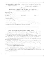 Mẫu kế hoạch cá nhân BDTX năm học 2012-2013
