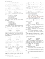 Trắc nghiệm ôn tập Vật Lý 12 có đáp án