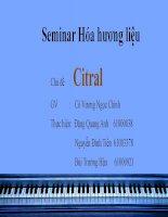 Tổng quan nghiên cứu về Citral