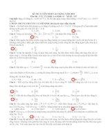 gơi ý giải đề thi  cao đẳng khối  A,A1 môn lý _mã đề 937  năm 2012