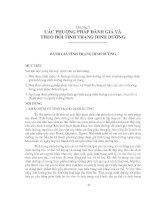 chương 2 các phương pháp đánh giá và theo dõi tình trạng dinh dưỡng