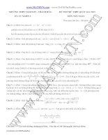 Đề thi thử trung học phổ thông quốc gia