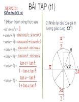 Bai tap cong thuc luong giac(t1)