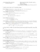 Đề thi thử ĐH môn Toán trường chuyên LHP ngày 10/3/2013
