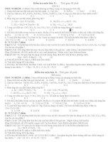 Bộ đề kiểm tra 1 tiết môn hóa 8 hay (tiết 53)