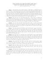 Ngân hàng câu hỏi thi công chức lĩnh vực chuyên ngành thủy sản 2013