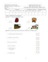 Đề kiểm tra tiếng Anh lớp 3 Kỳ 1 (2012-20130 có file nghe