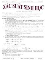 Dạng toán xác suất trong giải bài tập Sinh học